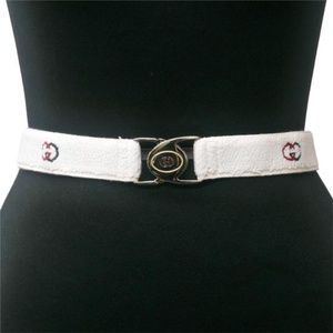 Gucci NOS White Terry Cloth & Red Green Enamel